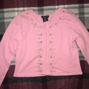 Pink beaded cardigan (girls 16)